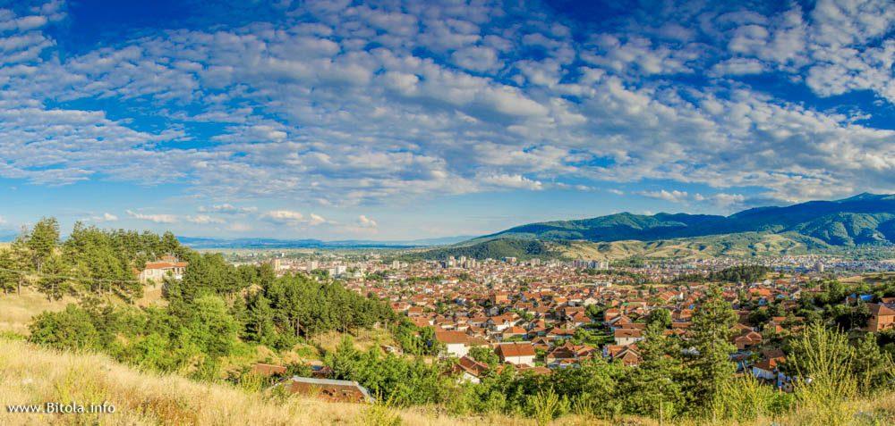 Bitola panorama from north toward south